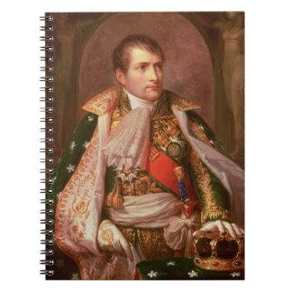 イタリアの王としてNapoleon Bonaparte (1769-1821年)、 ノートブック