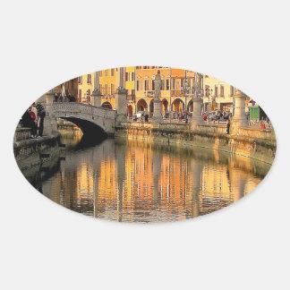 イタリアの眺め 楕円形シール