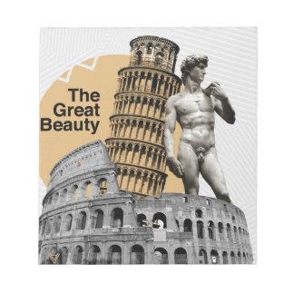 イタリアの素晴らしい美しい ノートパッド