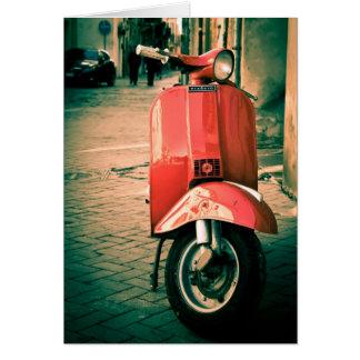 イタリアのPiaggioのスクーター カード