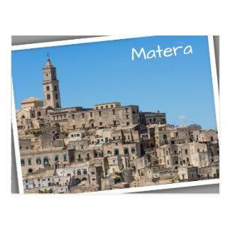 イタリアのSassiのディディミアムのマテラ都市 ポストカード