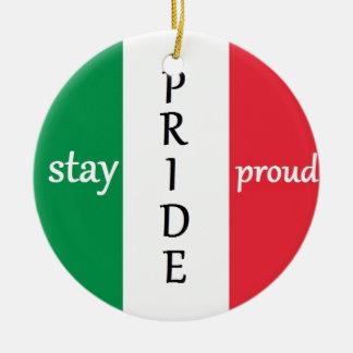イタリアまたはメキシコのプライド セラミックオーナメント