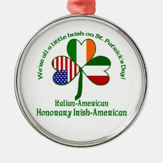 イタリアアイルランド語少し メタルオーナメント