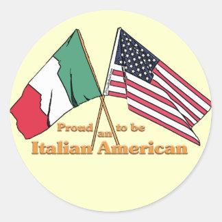 イタリアアメリカがあること誇りを持った ラウンドシール