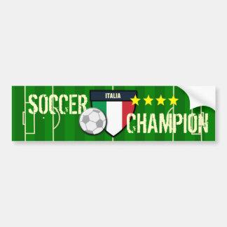 イタリアイタリアのサッカーのチャンピオン バンパーステッカー