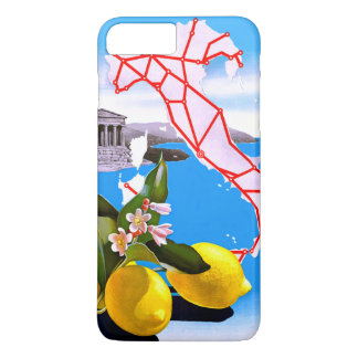 イタリアレモンローマの寺院の花 iPhone 8 PLUS/7 PLUSケース