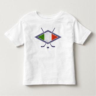 イタリアンなアイスホッケーのロゴ トドラーTシャツ