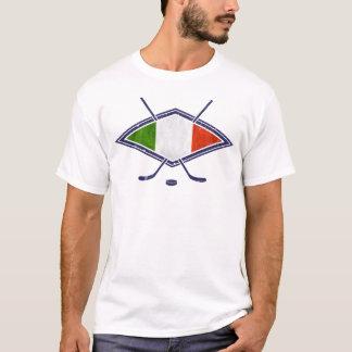 イタリアンなアイスホッケーのロゴ Tシャツ