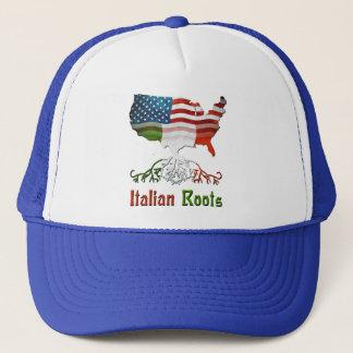 イタリアンなアメリカの家系の帽子 キャップ