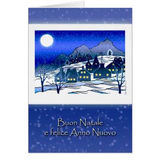 イタリアンなクリスマス、Buon NataleのSnowyの村 カード