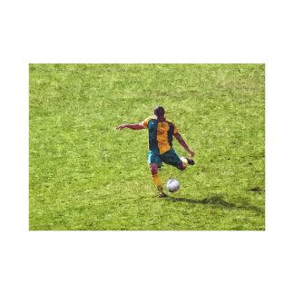 イタリアンなサッカーの写真 キャンバスプリント