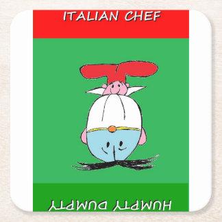 イタリアンなシェフおよびHUMPTY DUMPTYのテーブルのコースター スクエアペーパーコースター