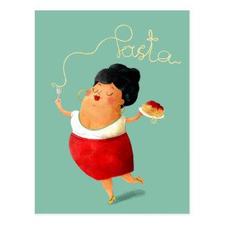 イタリアンなスパゲッティパスタの恋人 ポストカード