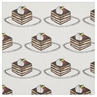 イタリアンなティラ・ミ・スチョコレートペストリーのデザートの生地 ファブリック