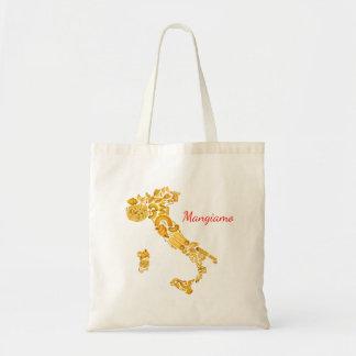 -イタリアンなパスタのキャンバスのバッグを食べよう トートバッグ