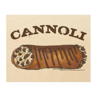 イタリアンなベーカリーのチョコレートチップスのCannoliのデザートの食糧 ウッドウォールアート