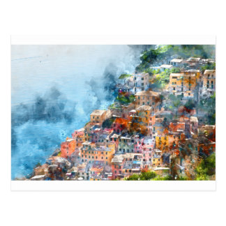 イタリアンなリビエラのCinque Terreイタリア ポストカード