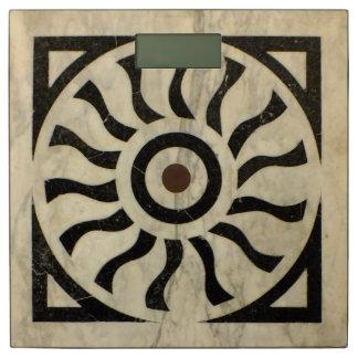 イタリアンなルネサンスの幾何学的な大理石のモチーフ 体重計