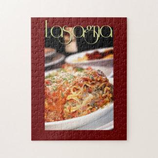 イタリアンなレストランのラザニアの夕食 ジグソーパズル