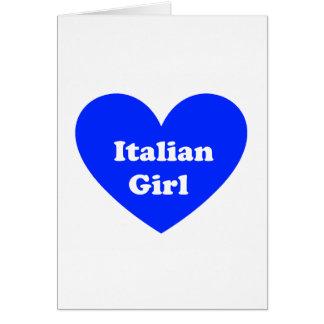 イタリアンな女の子 カード