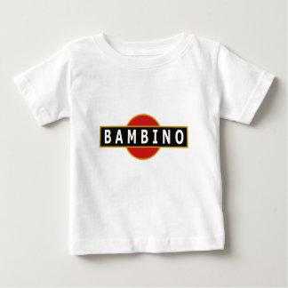 イタリアンな子供[バンビーノ]プリントが付いている涼しい子供のティー ベビーTシャツ