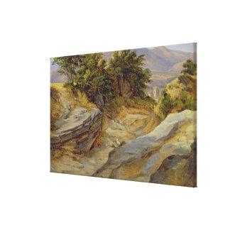 イタリアンな山の景色、c.1824 キャンバスプリント