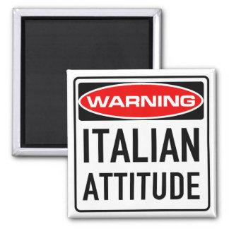 イタリアンな態度のおもしろいな警告の交通標識 マグネット