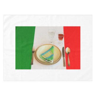 イタリアンな料理のテーブルクロス テーブルクロス
