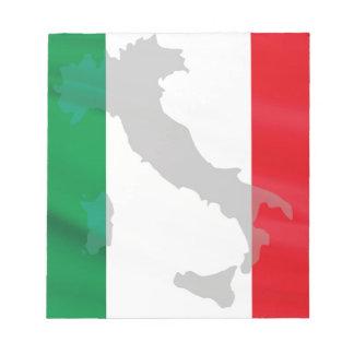 イタリアンな旗およびイタリア ノートパッド