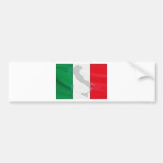 イタリアンな旗およびイタリア バンパーステッカー