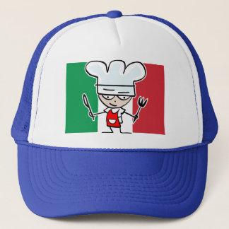 イタリアンな旗およびカッコいいの漫画が付いているシェフの帽子 キャップ