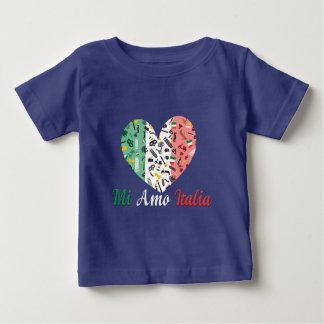 イタリアンな旗とのMi Amoイタリアのハート ベビーTシャツ