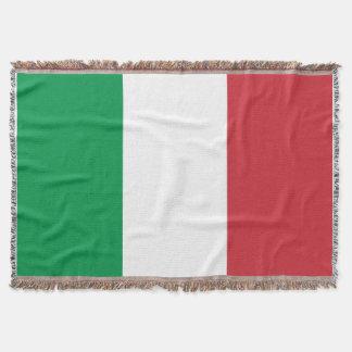 イタリアンな旗によって編まれる投球毛布|イタリアのtricolore スローブランケット
