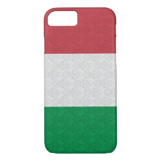 イタリアンな旗のダマスク織パターン iPhone 8/7ケース