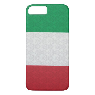 イタリアンな旗のダマスク織パターン iPhone 8 PLUS/7 PLUSケース