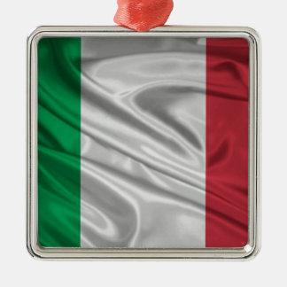イタリアンな旗のロゴ メタルオーナメント