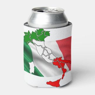 イタリアンな旗の地図の国の名誉の旗 缶クーラー