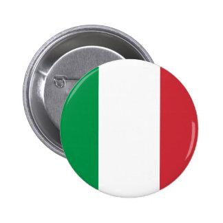 イタリアンな旗ボタン 5.7CM 丸型バッジ