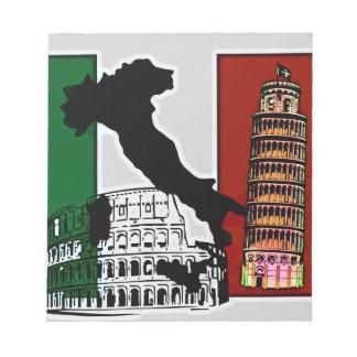 イタリアンな旗 ノートパッド