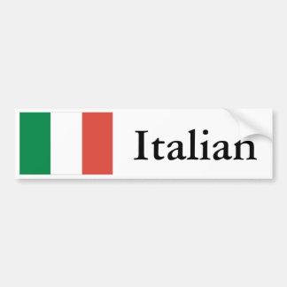 イタリアンな旗 バンパーステッカー