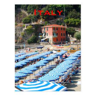 イタリアンな海岸線のビーチ ポストカード