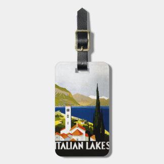 イタリアンな湖のヴィンテージ旅行ポスター ラゲッジタグ