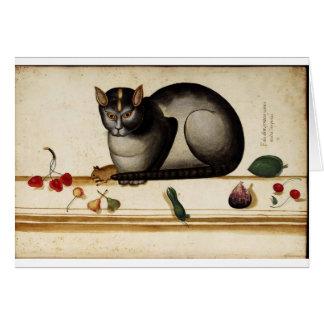 イタリアンな猫の挨拶状 カード