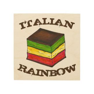 イタリアンな虹7つの層のクッキーのベーキングの台所 ウッドウォールアート