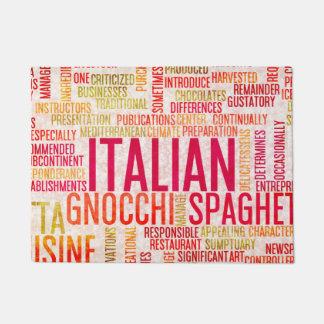 イタリアンな食糧および料理メニュー背景 ドアマット