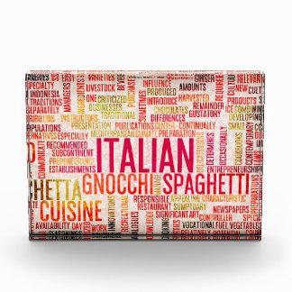 イタリアンな食糧および料理メニュー背景 表彰盾