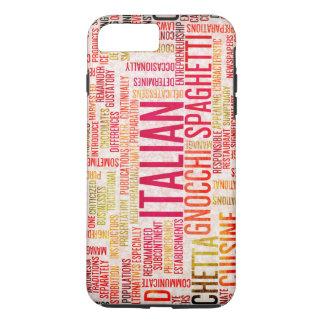 イタリアンな食糧および料理メニュー背景 iPhone 8 PLUS/7 PLUSケース