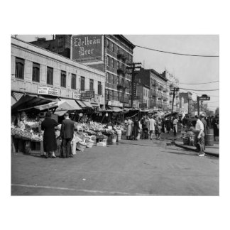 イタリアンなPushcartの市場、ブロンクス: 1940年 ポスター
