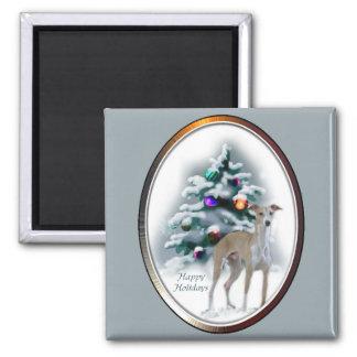 イタリアン・グレーハウンドのクリスマスのギフト マグネット