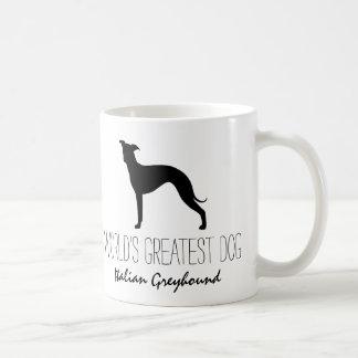 イタリアン・グレーハウンドのシルエットの世界で素晴らしい犬 コーヒーマグカップ